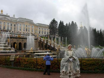 Palace gardens outside St. Petersburg