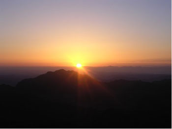 Sunrise from the Summit of Mt. Sinai, Sinai Desert, Egypt