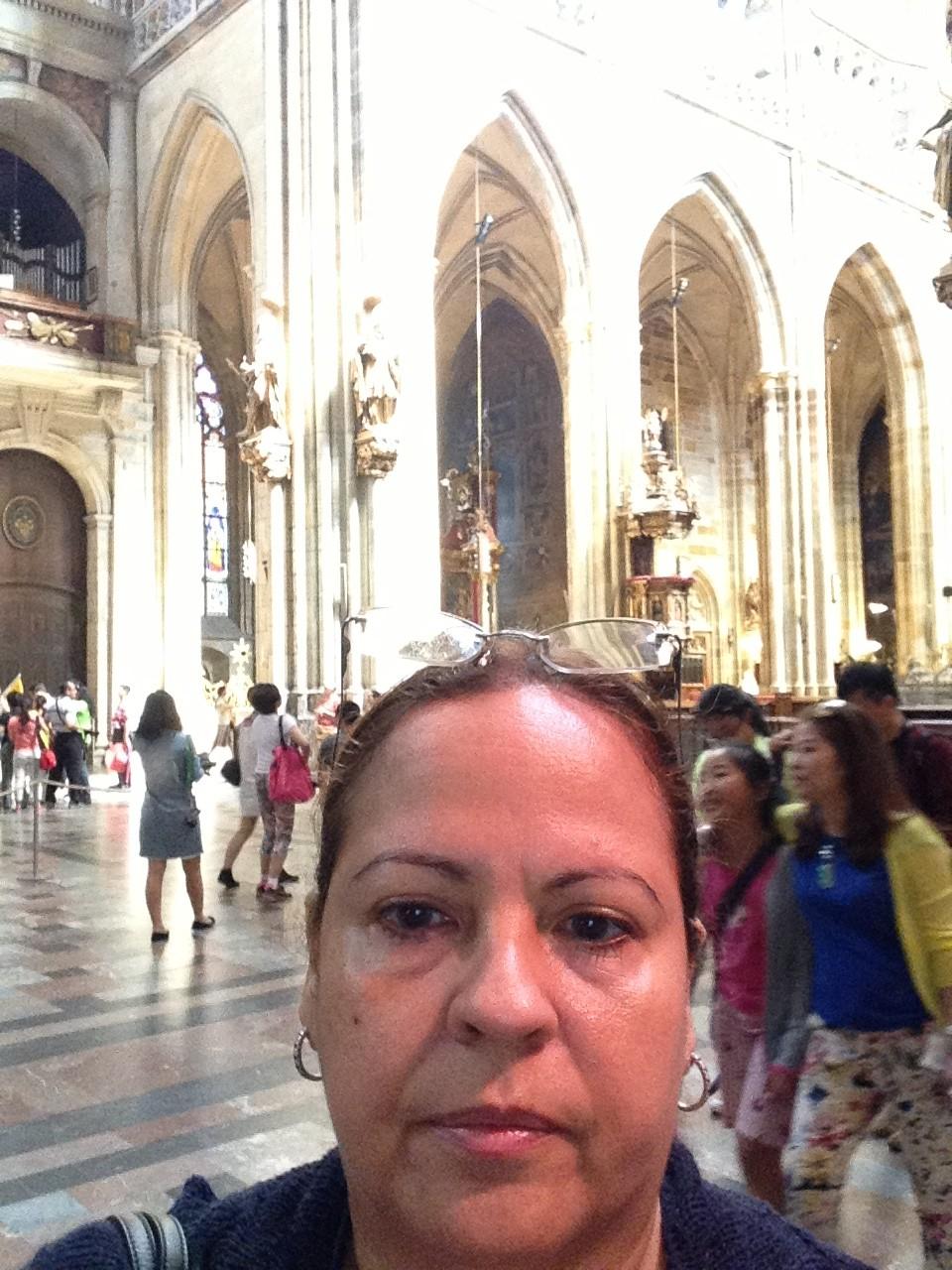 Katia at St. Vitus Cathedral