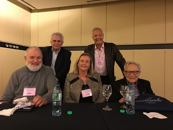 After the panel: Joaquín Pichon-Rivière, Juan Tubert-Oklander, Lea Setton, Roberto Losso, David Scharff